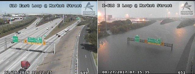 洪水对比图