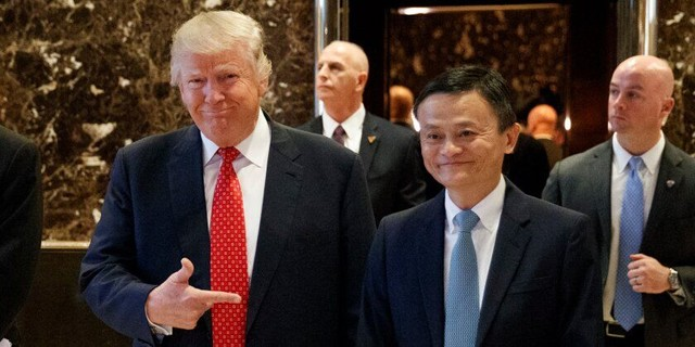 """各取所需 马云和特朗普的一场""""双赢会面""""(图)"""