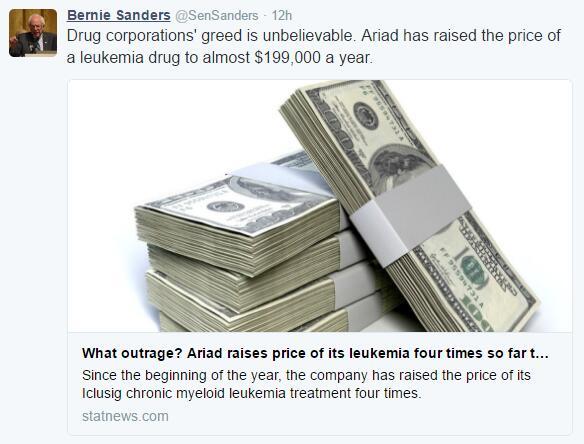 只因参议员一句话 这家医药公司股价暴跌近15%