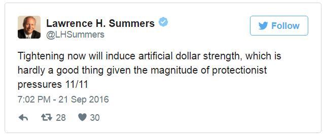 萨默斯狂发11条Twitter炮轰美联储:不该加息!