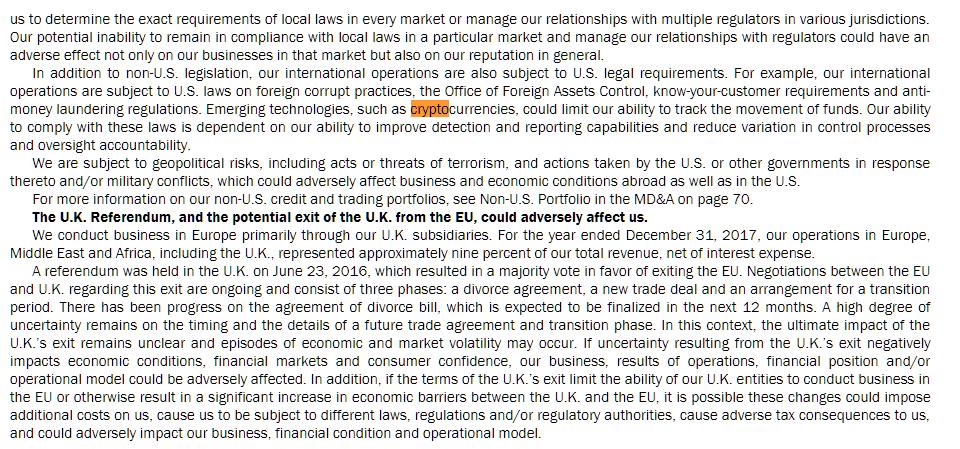 美国第二大银行警告风险:数字货币对盈利有潜